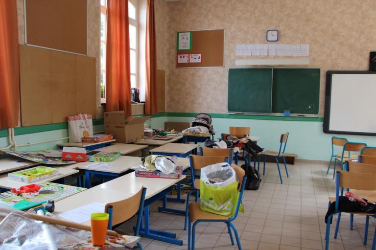 La classe se vide